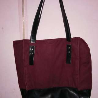 Totebag maroon adorable project