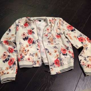 Forever 21 floral bomber jacket size small
