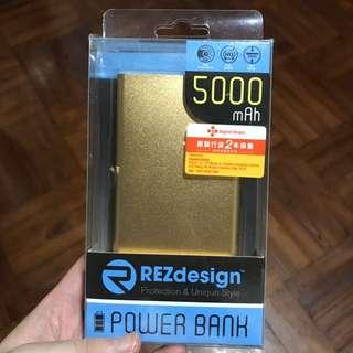金色 5000mah power bank 外置充電器 外置叉電器 尿袋