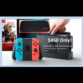 Nintendo Switch Console with Neon Blue/Red Joy-Con (EXPORT) with DragonBall Xenoverse 2
