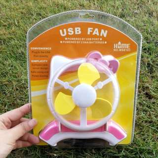 hello kitty USB mini fan