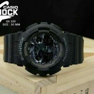 Jam Tangan Pria Casio G Shock Ga 100 Black Army