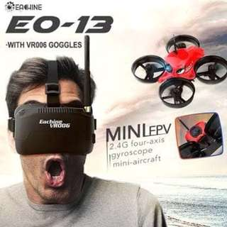 Eachine E0-13 with vr006 goggles fpv