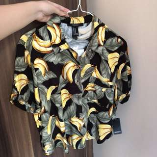 F21 printed top (brand-new)