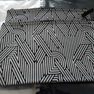 DKNY Printed Zip Pouch