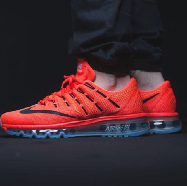best website e7b3a 3c2cd 100% Authentic Uber Cool NIKE AIR MAX 2016 Bright Crimson, Mens Fashion,  Footwear, Sneakers on Carousell