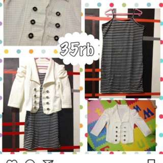 NEW Dress dan Cardigan Murah