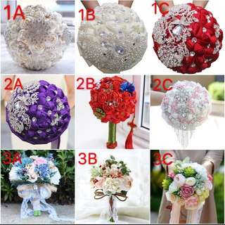 Bridal bouquet # premium quality #Crystal # Forestry # Royal Chinese Bouquet