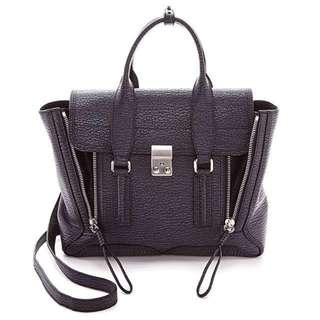 3.1 Phillip Lim - Pashli Medium Satchel 深紫色手挽斜咩袋