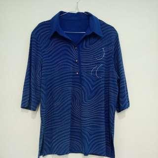 X3 atasan korea polo shirt