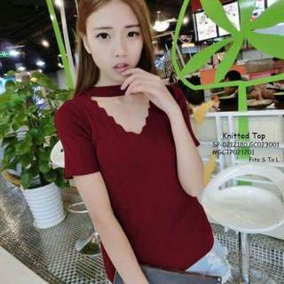 Knitted top fits S-L