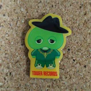Tower Record Japan pin badge