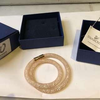 Swarovski necklace bracelet nude gold new condition