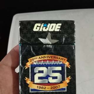 Gi joe playing cards 25 year aniversary