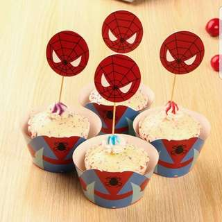 Spiderman Cupcake Cup Wrapper and Cupcake Topper