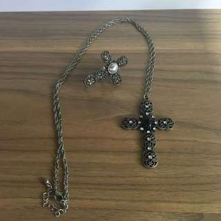 Bundle#2: Cross necklace and ring