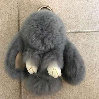 Fluffy Rabbit Bag charm