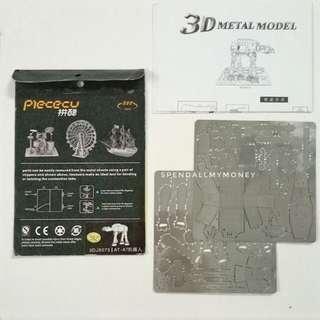 3D metal model star wars - AT AT