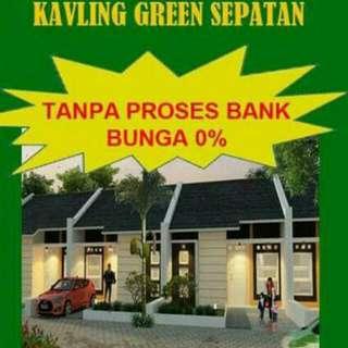 Green sepatan, kavling siap bangun, tanpa bunga dan proses bank, selangkah ke bandara soeta