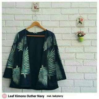 Kimono Feather & leaf