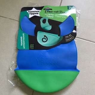 Baby Bib, Tommy tippee easy-roll, bib, first solids, baby led weaning BNIB