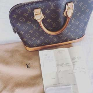 LV Alma bag authentic