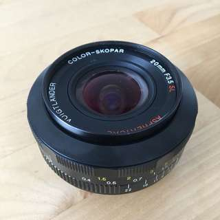 (Canon DSLR) Voigtlander 20mm f/3.5 manual focus lens