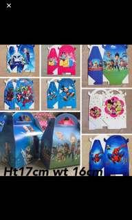 Instock Goodies Bag Box Paw Patrol/princess/Disney Etc 6pcs set