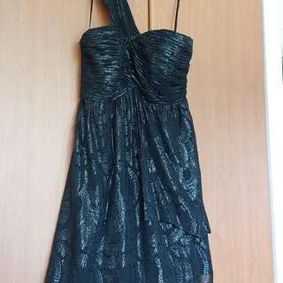 COAST black, 1-shoulder dress with sweetheart neckline