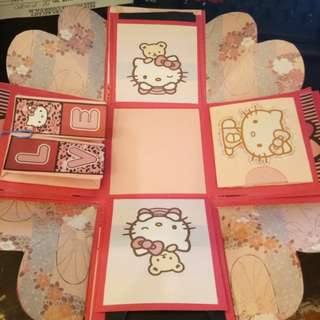 Hello kitty explosion box