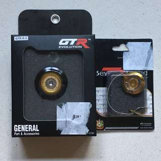Yamaha Xmax 300/R3/MT03 GTR Aluminium Alloy Crankcase Nut And Engine Oil Cap Set