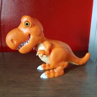 Orange Dinosaur Toy