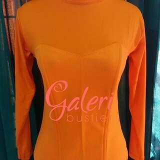 Bustier hijab muslim tulang 4(orange)