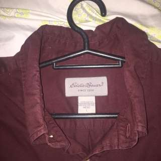 Eddie Baver Maroon Long-sleeves/polo