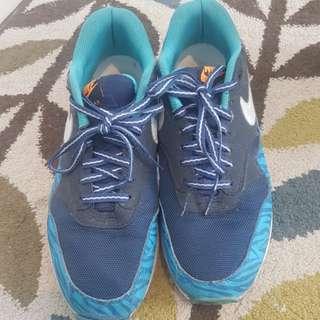 Sepatu airmax 1 zebra blue replika sz 44 only 300rb