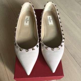 Valentino Rockstuds Ballerina Flats 38.5 Pink 平底鞋