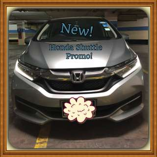 HONDA SHUTTLE 1.5G A! Promo Now! Only $68! Petrol Saver Proven! 18% off petrol Card! Lowest Price! Can Drive For Uber/Grab/Sixtnc! Flexible Rental Scheme! Personal User! Call Now!
