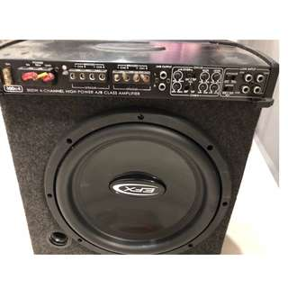 4ch amplifier and 12inch sub woofer