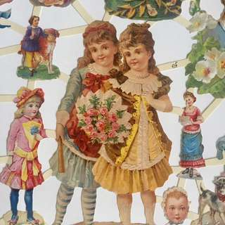 👼 ANGEL VICTORIAN CHILDREN SCRAP DIECUT PAPER