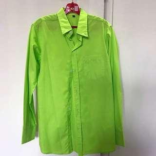 Neon Green Button Shirt