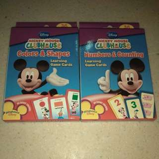 Flash Cards Mickey Mouse Game Card