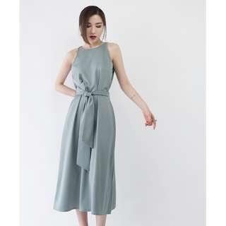 Midi Dress in Jade