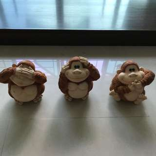 Say no evil, Speak no evil & Hear no evil Piggy Banks