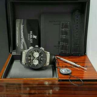 Hublot big bang Chronograph Fulk set box original free leather