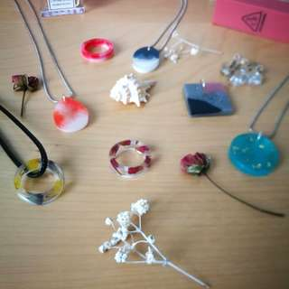 New years' resolutions - Handmade pendants and rings