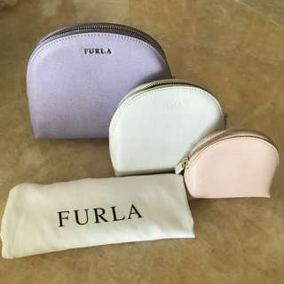 (NEW) FULAR 3 in 1 cosmetics bag 全新大中小化妝袋散子包