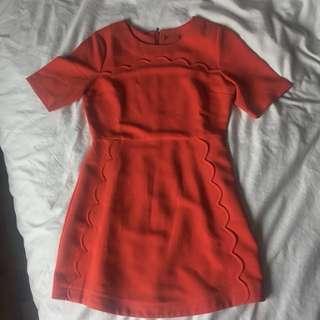 Topshop Orange minidress