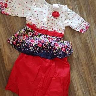 Baju Kurung Baby Girl Mini Peplum