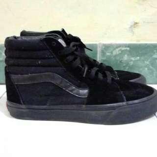Sepatu Vans Sk8 High Black Mulus Size 40,5
