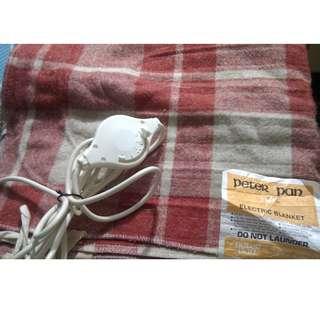 Peter Pan Electric Blanket 電熱暖毯 1500x700mm 240V, 68Watt